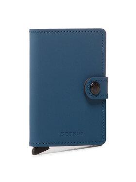 Secrid Secrid Portafoglio piccolo da uomo Miniwallet MM Blu scuro