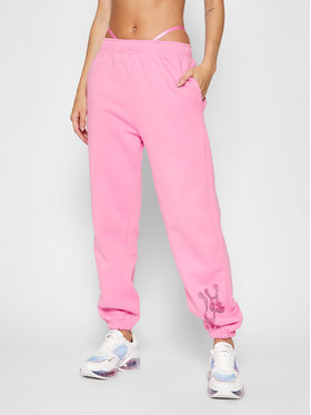 Local Heroes Local Heroes Pantalon jogging Rhinestones On The Side AW21P0005 Rose Regular Fit