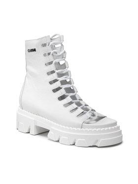 Carinii Carinii Botki B7237 Biały