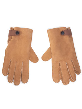 Ugg Ugg Pánské rukavice M Sheepskin Side Tab Tech Glv 18713 Hnědá