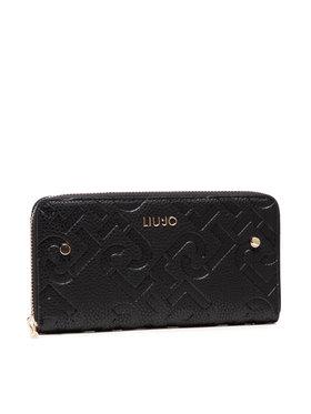 Liu Jo Liu Jo Veľká dámska peňaženka Esc XL Zip Around AF1051 E0538 Čierna