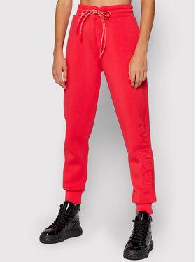 TWINSET TWINSET Spodnie dresowe 212TT2091 Czerwony Regular Fit