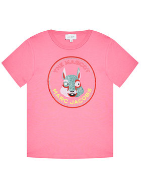 Little Marc Jacobs Little Marc Jacobs T-Shirt W15541 S Różowy Regular Fit