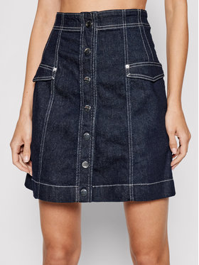 Guess Guess Jeans suknja Geri W1YD33 D3OW9 Tamnoplava Regular Fit
