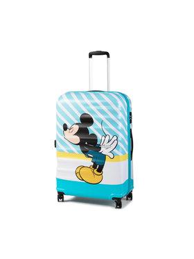 American Tourister American Tourister Duża Twarda Walizka Wavebreaker Disney 85673-8624-1CNU Niebieski