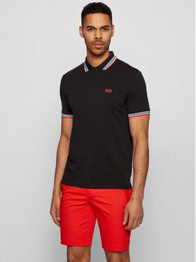 Boss Boss Тениска с яка и копчета Paddy 50398302 Черен Regular Fit