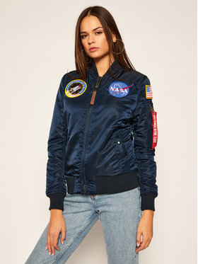 Alpha Industries Alpha Industries Bomber striukė Nasa 168007 Tamsiai mėlyna Regular Fit