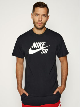 Nike Nike T-Shirt SB Logo Skate CV7539 Černá Regular Fit