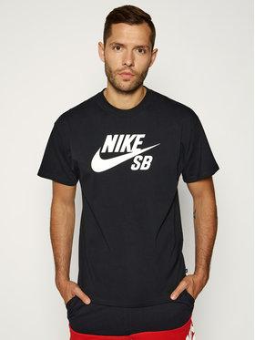 NIKE NIKE Тишърт SB Logo Skate CV7539 Черен Regular Fit