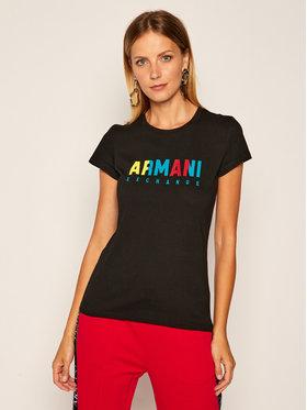 Armani Exchange Armani Exchange Marškinėliai 6HYTAF YJW3Z 1200 Juoda Slim Fit