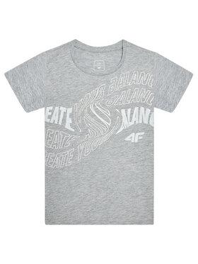 4F 4F T-Shirt HJL21-JTSD001A Γκρι Regular Fit