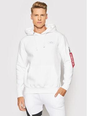 Alpha Industries Alpha Industries Sweatshirt Back Print 178318 Weiß Regular Fit
