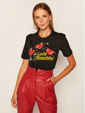 LOVE MOSCHINO LOVE MOSCHINO T-shirt W4H0602M 3876 Nero Regular Fit
