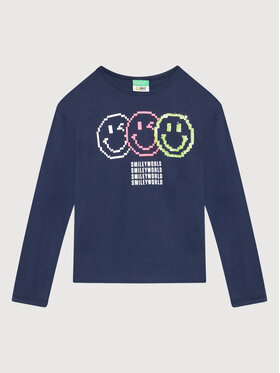 United Colors Of Benetton United Colors Of Benetton Bluză 3096C15DY Bleumarin Regular Fit