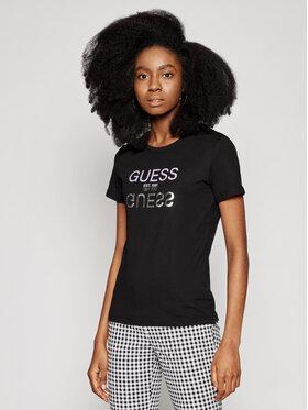 Guess Guess T-Shirt Glenna W1GI0C I3Z11 Czarny Regular Fit