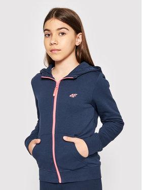 4F 4F Sweatshirt HJL21-JBLD001A Dunkelblau Regular Fit