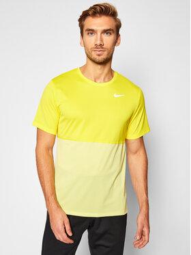 Nike Nike Funkčné tričko Breathe CJ5332 Žltá Standard Fit