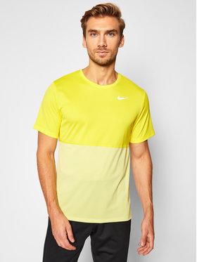 Nike Nike Тениска от техническо трико Breathe CJ5332 Жълт Standard Fit