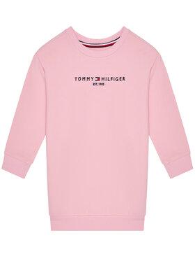 TOMMY HILFIGER TOMMY HILFIGER Sukienka codzienna Essential KG0KG05449 M Różowy Regular Fit