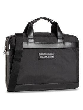 Tommy Hilfiger Tommy Hilfiger Τσάντα για laptop Uptown Nylon computer Bag AM0AM06432 Μαύρο