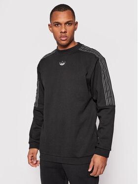 adidas adidas Mikina Sprt Outline 3-Stripes GN2442 Černá Regular Fit