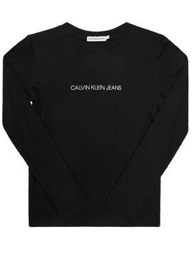 Calvin Klein Jeans Calvin Klein Jeans Bluse Logo Rib IG0IG00571 Schwarz Regular Fit