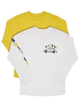 Mayoral Mayoral Set di 2 magliette 2037 Giallo Regular Fit