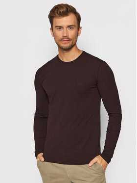 Trussardi Trussardi Тениска с дълъг ръкав 52T00538 Кафяв Slim Fit