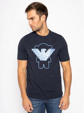 Emporio Armani Emporio Armani T-Shirt 3H1T8A 1J91Z 0922 Granatowy Regular Fit