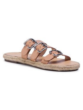 Manebi Manebi Εσπαντρίγιες Leather Sandals S 2.0 Y0 Μπεζ