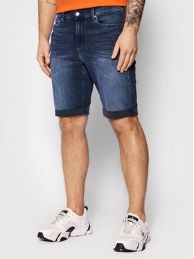Calvin Klein Jeans Calvin Klein Jeans Džinsiniai šortai J30J317740 Tamsiai mėlyna Slim Fit