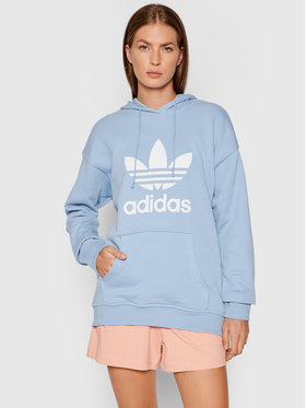 adidas adidas Bluză adicolor Trefoil H33585 Albastru Regular Fit