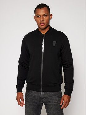 KARL LAGERFELD KARL LAGERFELD Pulóver Sweat Zip 705025 502910 Fekete Regular Fit