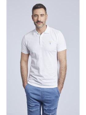Vistula Vistula Тениска с яка и копчета Frigoles XA1193 Бял Regular Fit
