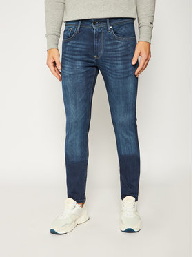 Pepe Jeans Pepe Jeans Jeansy Stanley PM201705 Tmavomodrá Slim Fit
