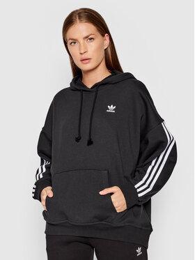 adidas adidas Bluză adicolor Classics H37799 Negru Oversize