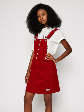 Tommy Jeans Tommy Jeans Minirock Crossback Dungaree DW0DW09182 Dunkelrot Regular Fit
