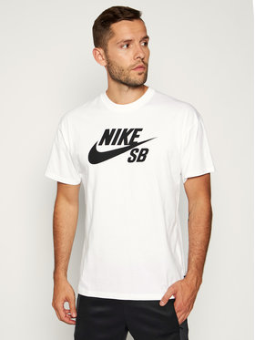 Nike Nike Тишърт SB Logo Skate CV7539 Бял Loose Fit