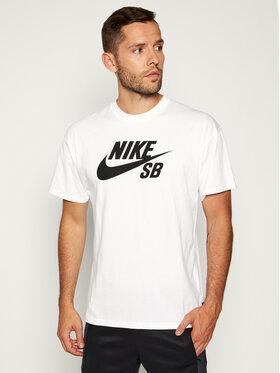 Nike Nike Tricou SB Logo Skate CV7539 Alb Loose Fit