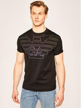 Emporio Armani Emporio Armani T-Shirt 3H1TM9 1JCQZ G003 Czarny Regular Fit