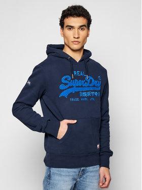 Superdry Superdry Μπλούζα Vl Chenille Hood M2011142A Σκούρο μπλε Regular Fit