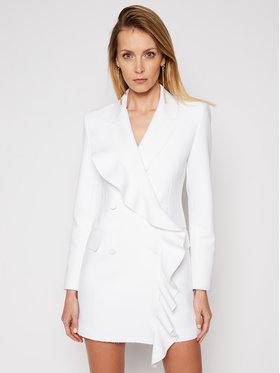 MSGM MSGM Коктейлна рокля 3041MDA09 217100 Бял Regular Fit
