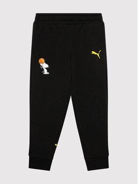 Puma Puma Pantalon jogging PEANUTS 586134 Noir Regular Fit