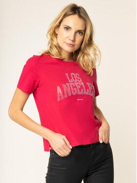 Guess Guess T-shirt Glam La Tee W01I89 R5JK0 Rosa Regular Fit