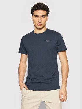 Pepe Jeans Pepe Jeans T-Shirt Derek PM508011 Granatowy Regular Fit