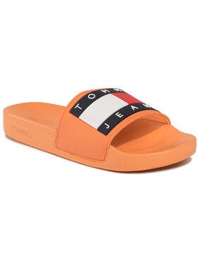 Tommy Jeans Tommy Jeans Šlepetės Flag Pool Slide EN0EN00474 Oranžinė