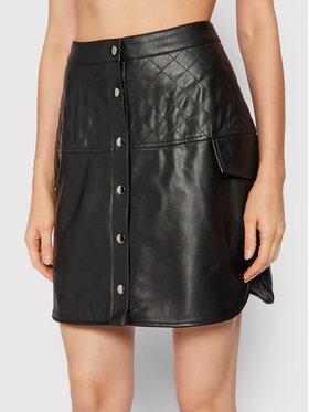 Vero Moda Vero Moda Sukňa z imitácie kože Loving 10252282 Čierna Regular Fit