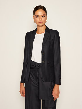 Victoria Victoria Beckham Victoria Victoria Beckham Blézer Flannel Tailoring 2320WJK001484A Sötétkék Slim Fit