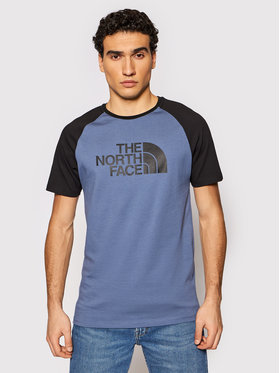 The North Face The North Face Marškinėliai Raglan Easy NF0A37FVWC41 Mėlyna Regular Fit