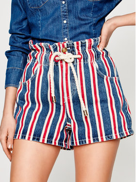 Elisabetta Franchi Elisabetta Franchi Szorty jeansowe HJ-07D-01E2-V289 Kolorowy Regular Fit